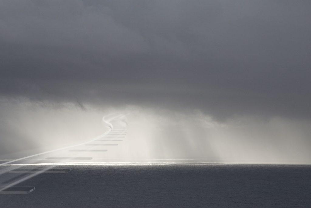 Escalera al cielo desde el mirador de Puerto Naos