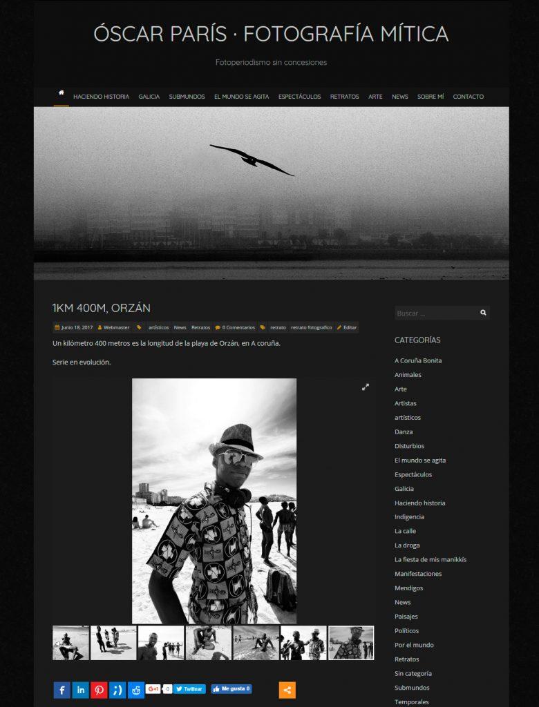 Web Óscar París a junio de 2017